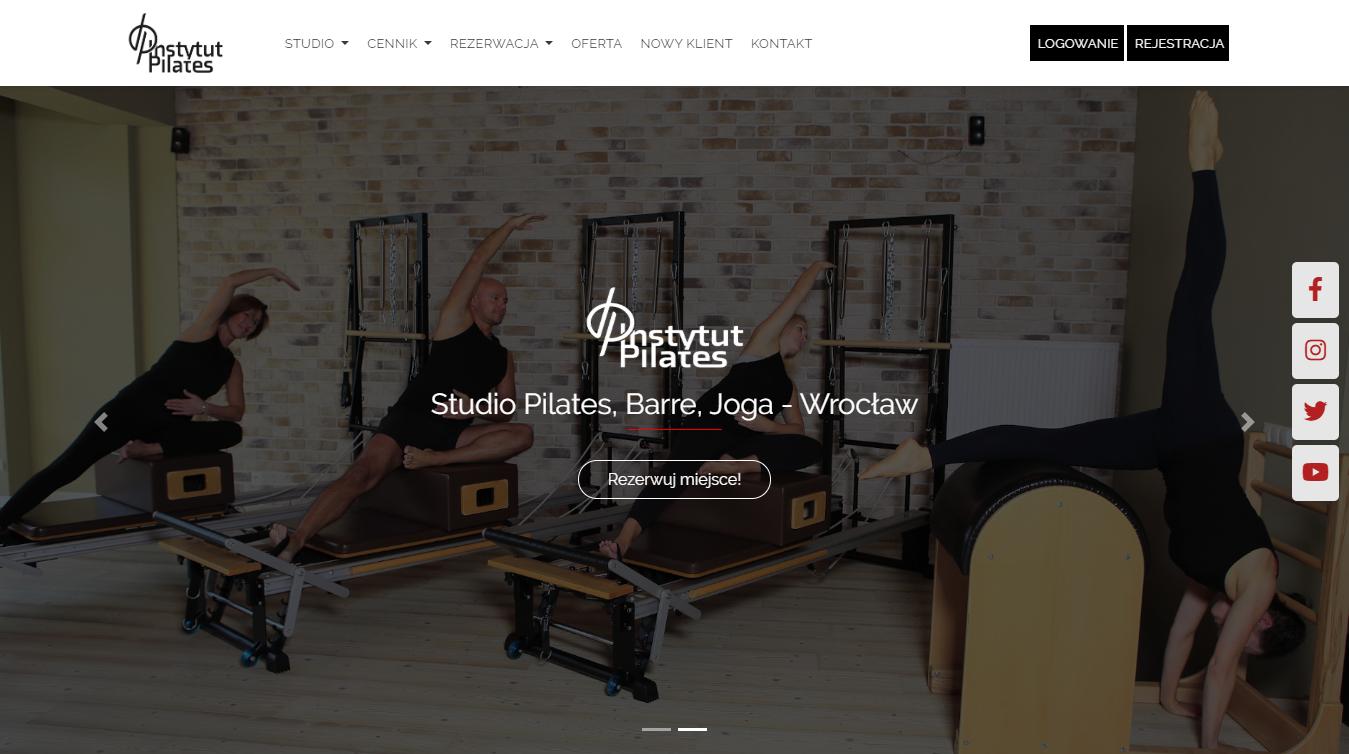 Przykładowa realizacja: Strona WWW dla Instytut Pilates