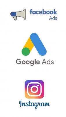 Logo Faceebook Ads Google Ads i Instagrama
